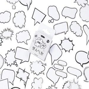 20 упак./лот, черный и белый, не указанная коробка, бумажный клей, декоративные канцелярские принадлежности, липкий клей, блокнот, клейкая эти...
