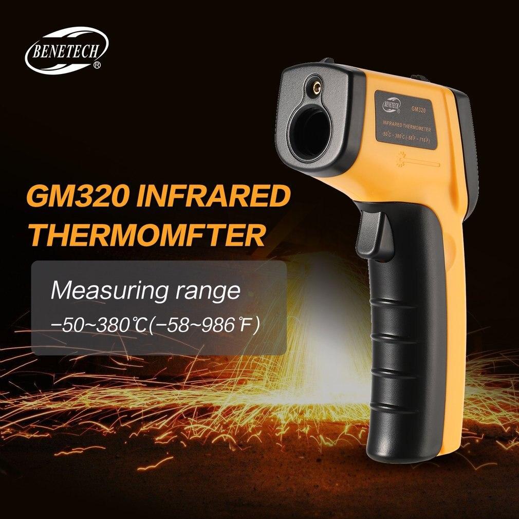 IR Laser Pistola del Punto GM320 Termometro Digitale A Infrarossi Senza Contatto di Temperatura Meter LCD Pirometro-50 ~ 380 gradi T20