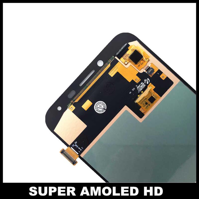 لسامسونج غالاكسي J4 J400 J400F SM-J400F سوبر AMOLED LCD J400F/DS J400G/DS عرض مع محول الشاشة الرقمي اللمس