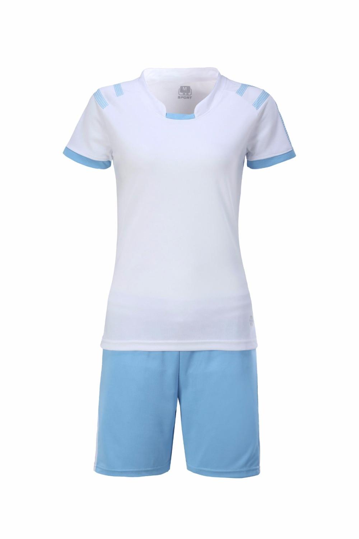 Womens short sleeve sports training kit, football suit, DIY team custom logo printing, breathable womens football jerseys, wom