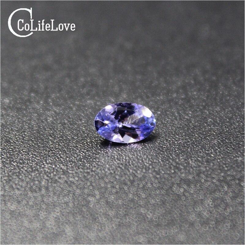0.7 ct tanzanite naturelle lâche pierre précieuse pour anneau ou pendentif 5mm * 7mm VS grade ovale coupe tanzanite pierre lâche - 2