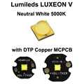 Lumileds LUXEON V нейтральный белый 5000K светодиодный излучатель с 16 мм/20 мм DTP медь MCPCB