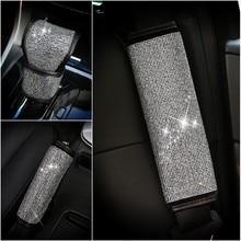 Полный кристалл алмаза Автомобильный Ручной тормоз крышка шестерни переключения Ремень безопасности Обложка для обувь девочек стайлинга автомобилей