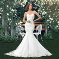 Vestido De Noiva 2016 Vintage Strapless Mermaid Wedding Dress 2015 Lace Sweetheart Bride Dress Robe De Mariage  casamento