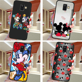 Mouse For Samsung Galaxy A9 A8 A7 A6 A5 A3 J3 J4 J5 J6 J8 Plus 2017 2018 M30 A40S A10 A20E phone Case Cover Coque Etui silicone black silicone cover cute girlfriend bff for samsung galaxy a8s a9 a7 2018 a8 a6 plus a5 a3 star 2018 2017 phone case