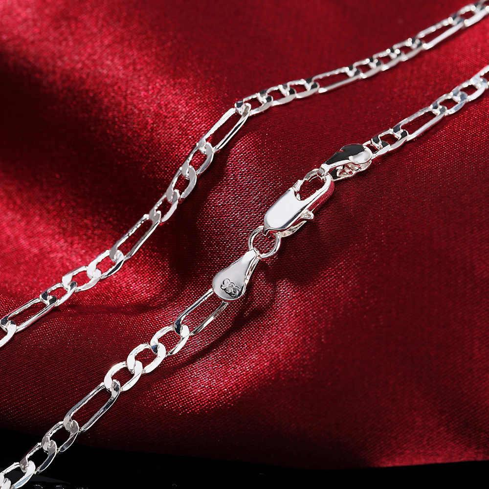 16-30 дюймов 4 мм цепочка для женщин и мужчин хит серебряный цвет изысканный роскошный великолепный Шарм Мода Серебряное украшение на шею N102