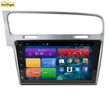 NAVITOPIA Quad Core Android 6.0 2G RAM Car GPS Navigation for VW Golf 7 2002-2016 Car Multimedia Player Radio Stereo,NO DVD