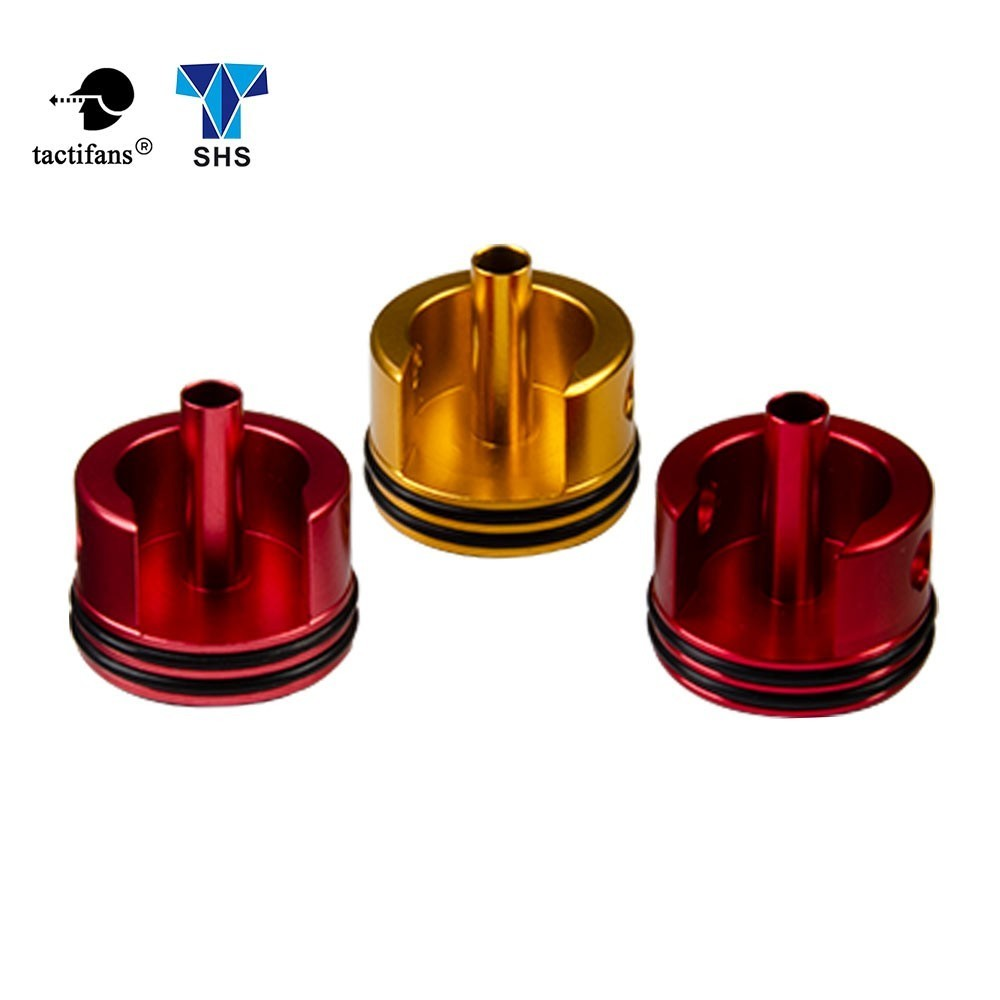 Tactifans SHS Alumium CNC Cylinder Head Double O-ring For M4 Airsoft AEG Paintball Shooting Hunting Army Target Accessories