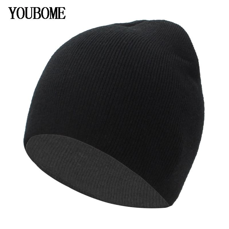 YOUBOME Knitted Hat Women   Skullies     Beanies   Winter Hats For Men Mask Female   Beanie   Men Caps Gorros Bonnet Soft Winter Hat Caps