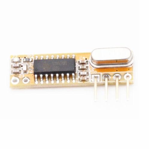 10 יחידות 433 Mhz Superheterodyne RXB12 מקלט אלחוטי מדויק לarduino/AVR