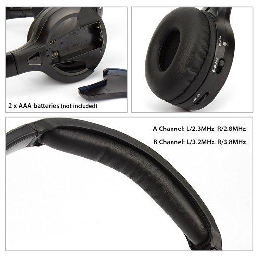 IR Infrared Wireless headphone Stereo Foldable Car Headset Earphone Indoor Outdoor Music Headphones TV headphone 2 headphones 17