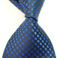 2017 Brand clothing Business Silk Men's Suits Ties officer  blue polka dot Gravata Tie arrow ties for men