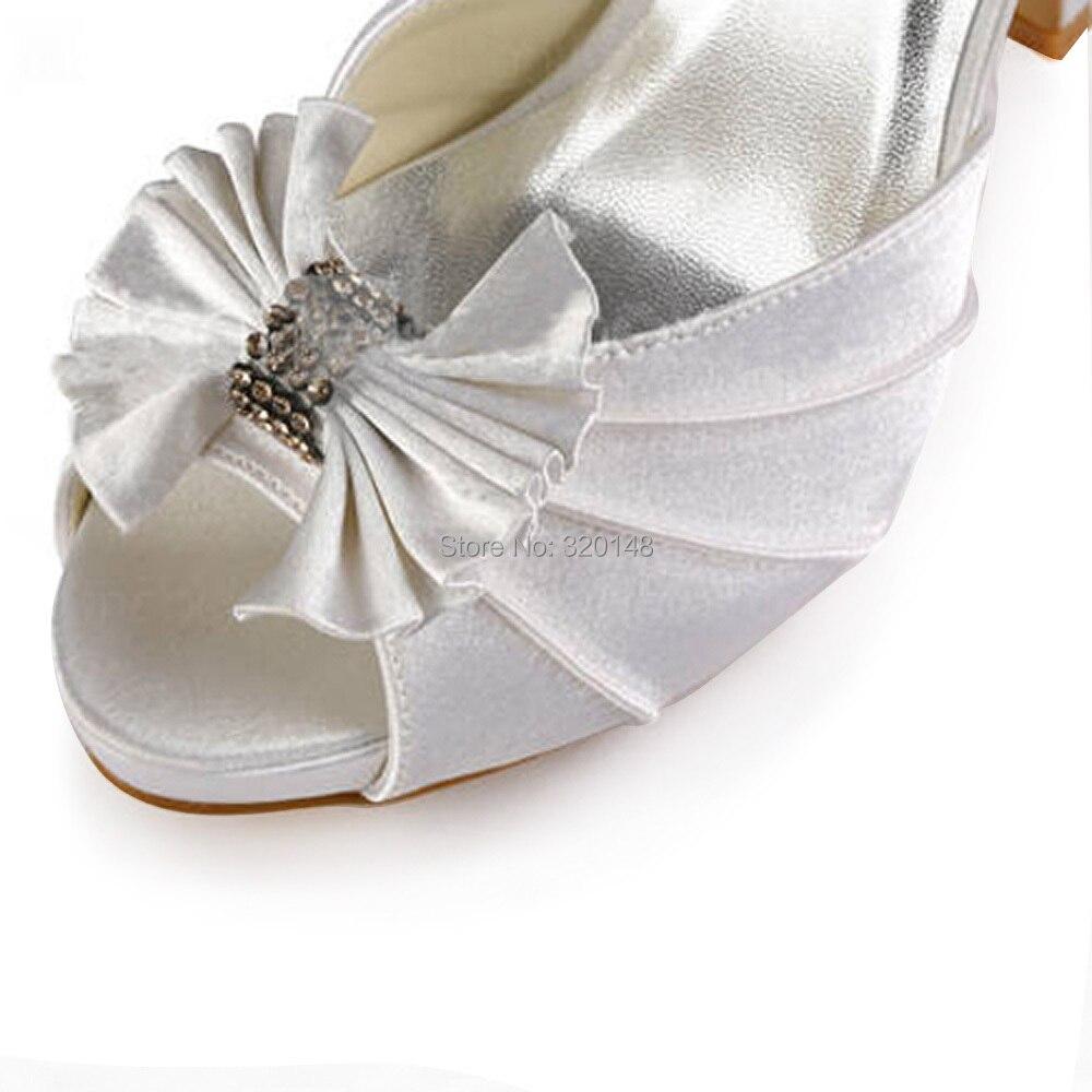 Schuhe Abend High Ep11050 Ankle Heels white Plattform Strap Toe Ivory Frau Braut ip Satin Prom Hochzeit Dame Pumpen Brautjungfern Peep Weiß wxqCZS