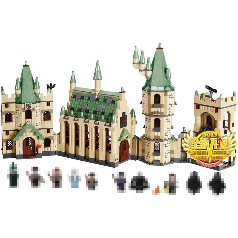 Новый Лепин 16030 1340 шт. Хогвартс замок Творческий фильмы здания Конструкторы кирпичи Совместимость 4842 Развивающие игрушки для детей