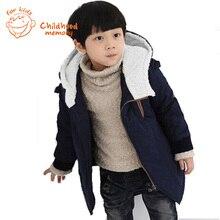 Boys Winter Coat European Style Children Cotton Coat 2015 New Brand Kids Jacket For Boys Lamb Wool Padded Outwear Fashion Hot