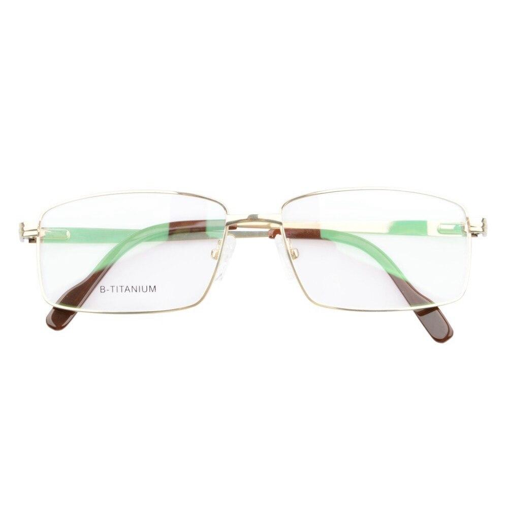 LQB026 lunettes de vue titane cadre optique printemps bras articulés lunettes cadre hommes - 6