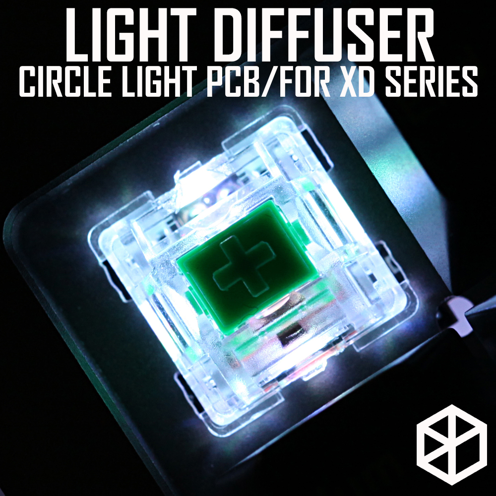 XD Halo RGB light control <font><b>pcb</b></font> soft lighting light diffuser circle light for mechanical <font><b>keyboard</b></font> cospad xd60 64 75 84 96 40 <font><b>68</b></font> image