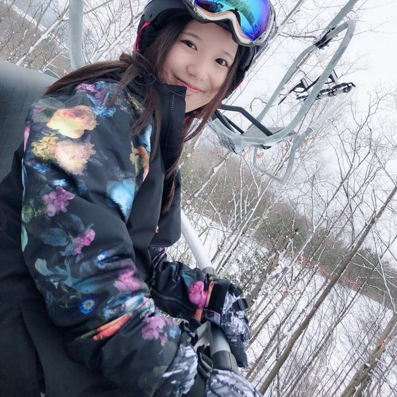 2018 nouveau sport d'hiver ski veste femmes snowboard neige manteau montagne ski vêtements veste de ski femme imperméable coupe-vent