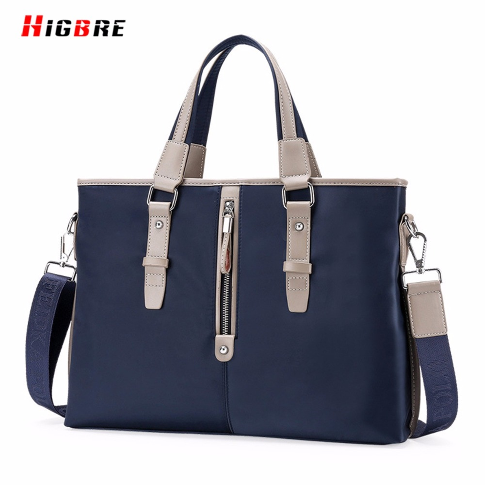 ФОТО Classic Design Handbag Briefcase Business Vertical Bags Men Casual Shoulder Bags Large Capacity Oxford Cloth Messenger Bag Tote