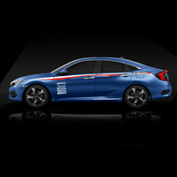 World Datong Both side body sport auto stickers For Honda CIVIC car body stickers and decals auto sticker
