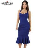 Blue Elegant Mermaid Bodycon Dress