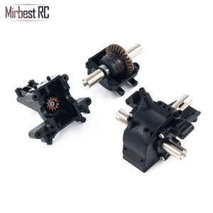 Image 1 - Mirbest RC DIY Parts For Wltoys 12428 Parts 12423 RC car parts Metal gear differential front wave box 12428 Upgrade accessories