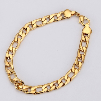 Men Jewelry Set Black/Gold...