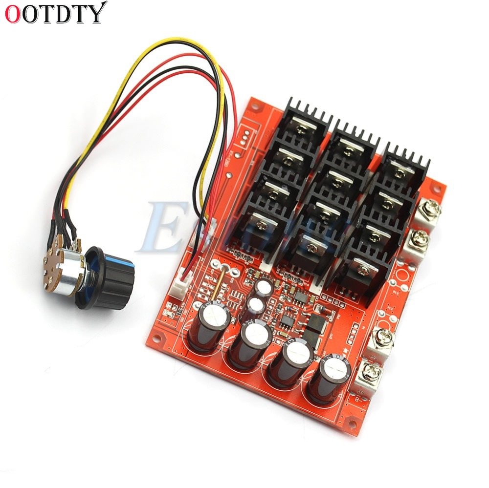 OOTDTY DC 10-50V 60A Motor Speed Control PWM HHO RC Controller 12V 24V 48V 3000W MAXOOTDTY DC 10-50V 60A Motor Speed Control PWM HHO RC Controller 12V 24V 48V 3000W MAX