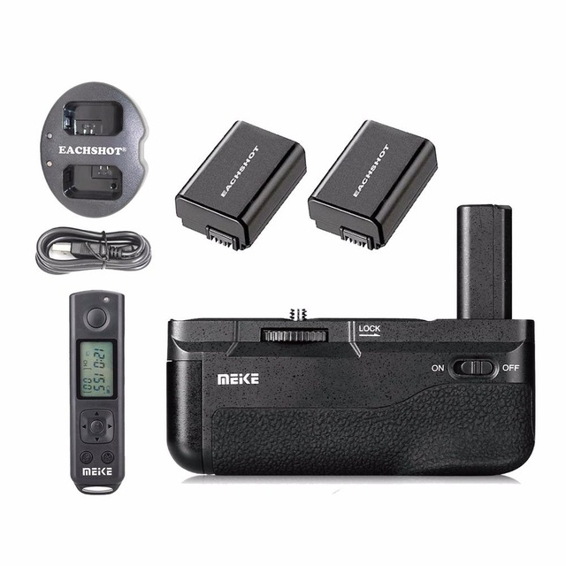Meike MK-A6500 Pro Battery Grip + 2PCS FW50 Battery + dual Charger Built-in 2.4Ghz with Rremote For Sony A6500 sony a6500