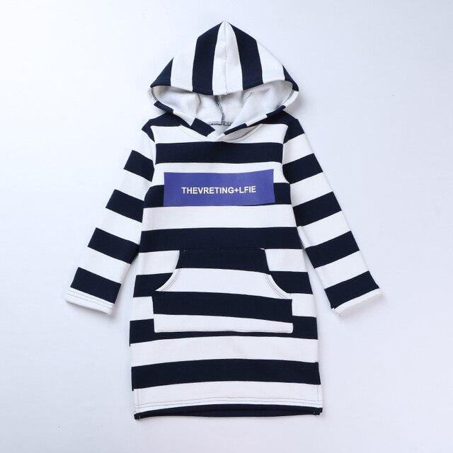 Зима детская одежда девушки 2016 новая девочка с бархатной полосой сращивание куртка Британских детей ветер письма D18073