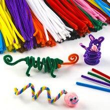 Fil de tressage en Chenille, 100 pièces, tige torsadée, jouet artisanal, décorations artistiques créatives pour bébé, bâtons de jouets éducatifs