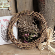 Christmas Natural Dried Rattan Wreath Xmas Garland Home Door Wall DIY Rattan Star Sepak Takraw Home Wedding Christmas/Birthday
