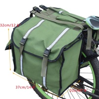 3 In 1 Mountain Road Bicycle Bike Trunk Bags Cycling Double Side Rear Rack Tail Seat Pannier Pack Luggage Carrier