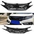 Для Civic 2018 сетка передняя решетка капота для 2016 2017 2018 Honda Civic 10th Gen FK8 Type-R Стиль глянцевый черный