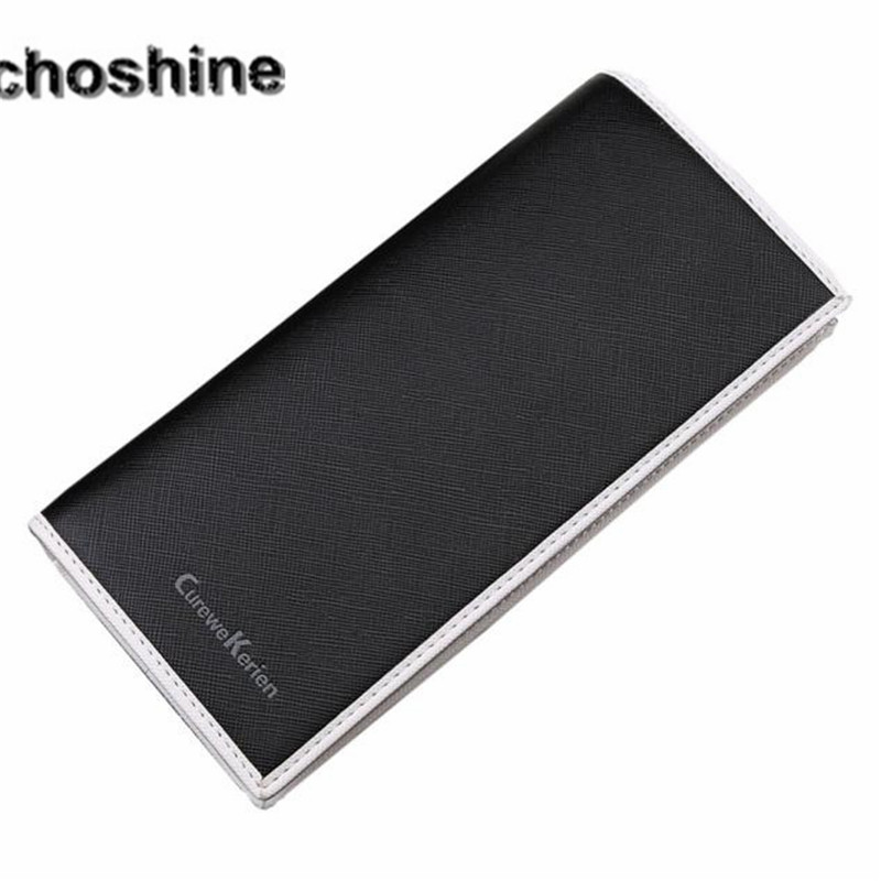 2016 new arrive Folded Men Leather Card Cash Receipt Holder Organizer Bifold Wallet Long Purse gift wholesale high quality A0000 цена 2016