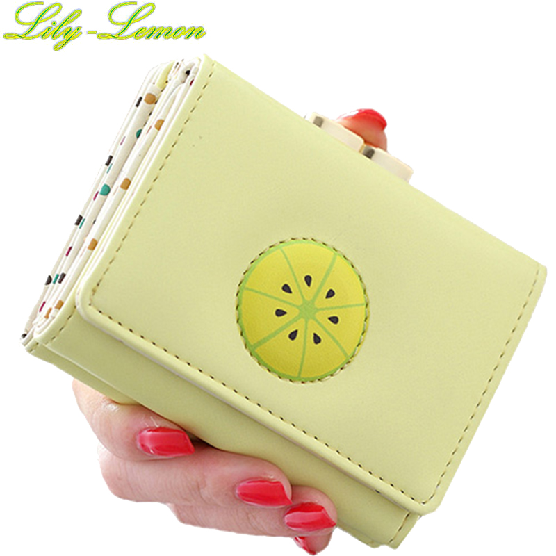 Women Cute Fruit Wallets Korea Brand Designer Leather Ladies Short Summer Mini Wallets Teenage Girls Coin Purse Card Holder W011 high quality leather cute women s wallets coin purse leather short women leather wallets girls best gift free shipping