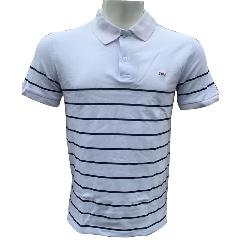 men's Eden Park cotton Causal Men   POLO   Shirt Fashion striped Homme Short-sleeve Camisa Men Summer shorts Embroidery tees