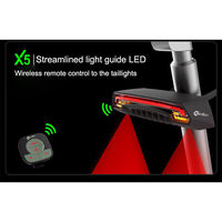 Cycling Light Turn Signal Bike Rear Tail Led Light Wireless Smart Control Laser Beam USB Chargeable