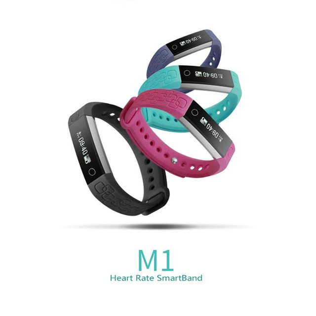 M1 Smart Bracelet Fitness Tracker Step Counter heart rate Counter Call Reminder Wristband
