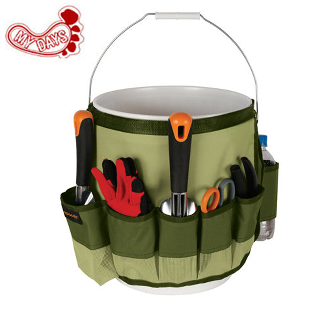 MY DAYS Outdoor Hunting Toolkit Bag Garden Tool Kits Multi Purpose  Adjustable Bucket Caddy 10