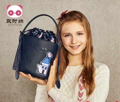 Princess sweet lolita JUSTSTAR bag Autumn and winter fashionable leisure bag cartoon cute Bucket Bag Handbag tide women 171757 юбка strawberry witch lolita sk