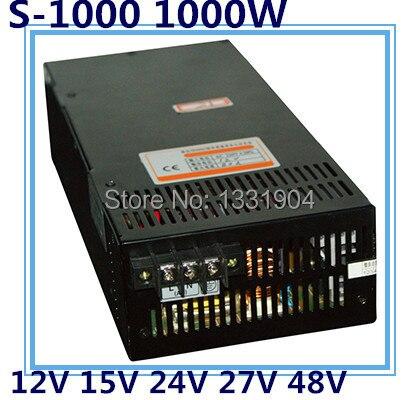 Светодиодный однофазный импульсный источник питания S 1000, 1000 Вт AC вход, выходное напряжение 12 В, 15 В, 24 В, 27 в, 48 В .. трансформатор