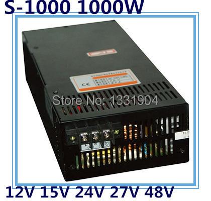 LED однофазный выход импульсный источник питания s 1000, 1000 Вт вход переменного тока, выходное напряжение 12 В, 15 В, 24 В, 27 В, 48V .. трансформатор