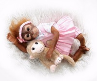 Monkey Baby Doll Toy Cloth Body Soft Realistic