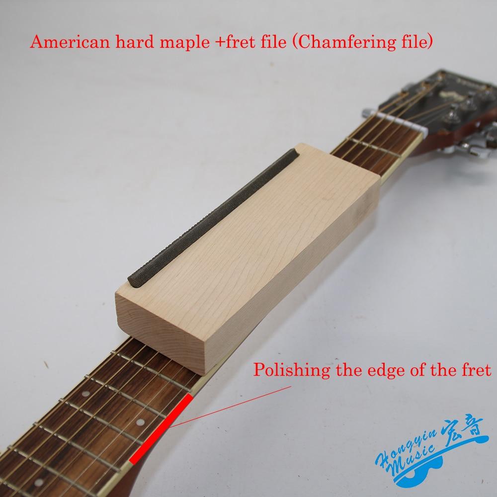 Handwerkzeuge Gitarre Fret Krönung Gitarrenbauer Werkzeuge Datei Schmale Dual Schneide Langlebig