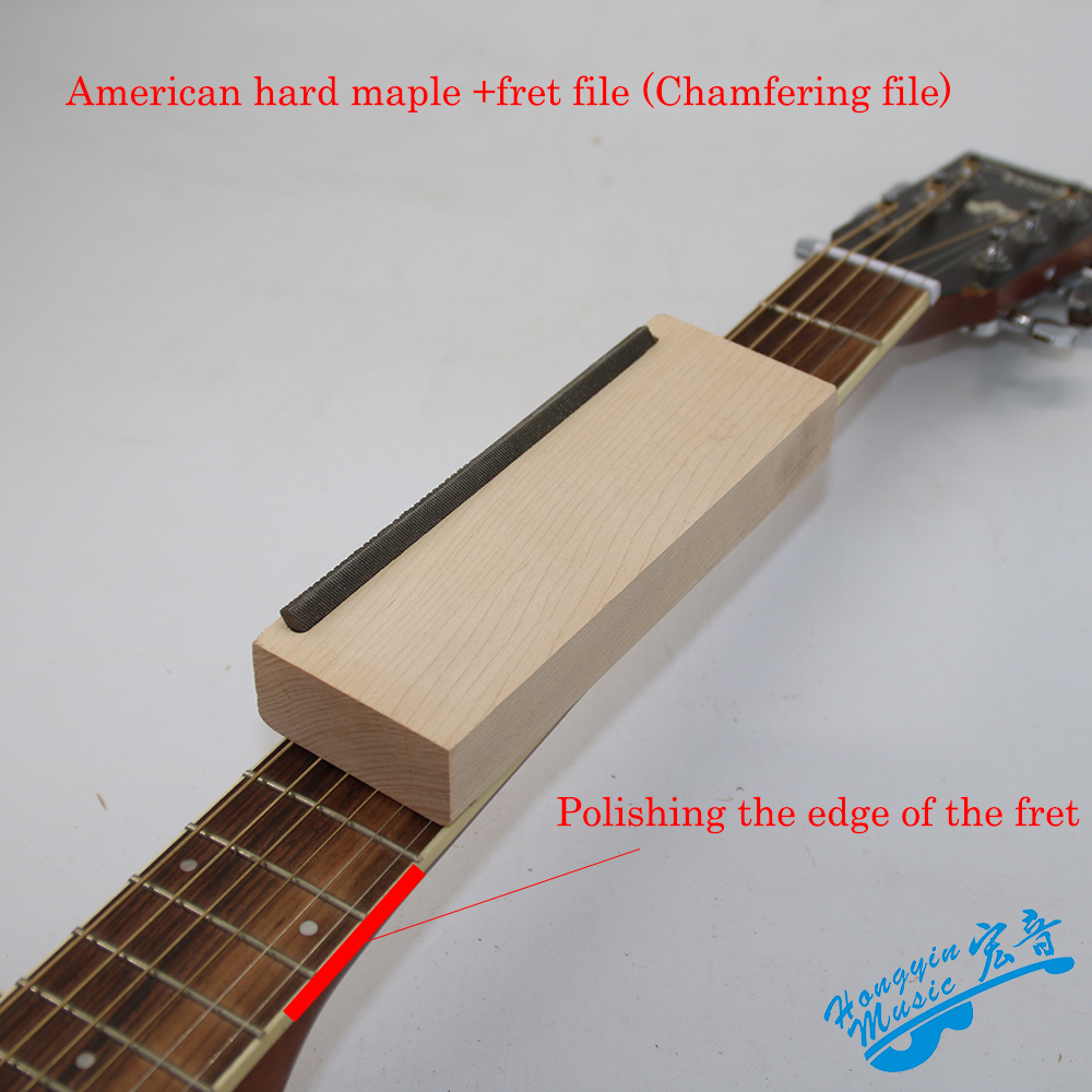 Baquelita guitarra traste corona Luthier archivo americano duro Arce hierro estrecho doble herramienta de corte herramientas profesionales