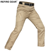 ReFire Gear Outdoor Hiking Pants Men Hunting Tactical Army Military Cargo Pant Elastic Waterproof Airsoft Camo Trouser 7 Colors