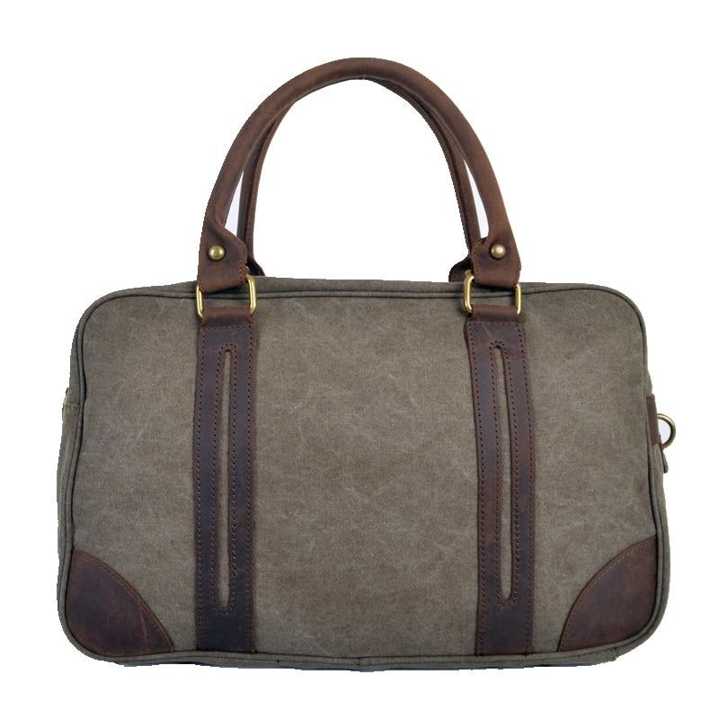 ФОТО 2016 Vintage military Large Capacity Canvas Leather handbag travel shoulder bags Carry on Luggage bag Weekend Duffle travel  bag
