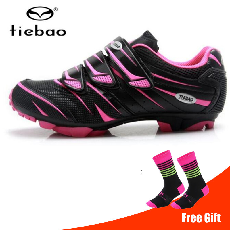 TIEBAO New Arrival 2018 Women Cycling Shoes Sapatilha Ciclismo Mtb Outdoor Mountain Bike Bicycle Shoes equitation