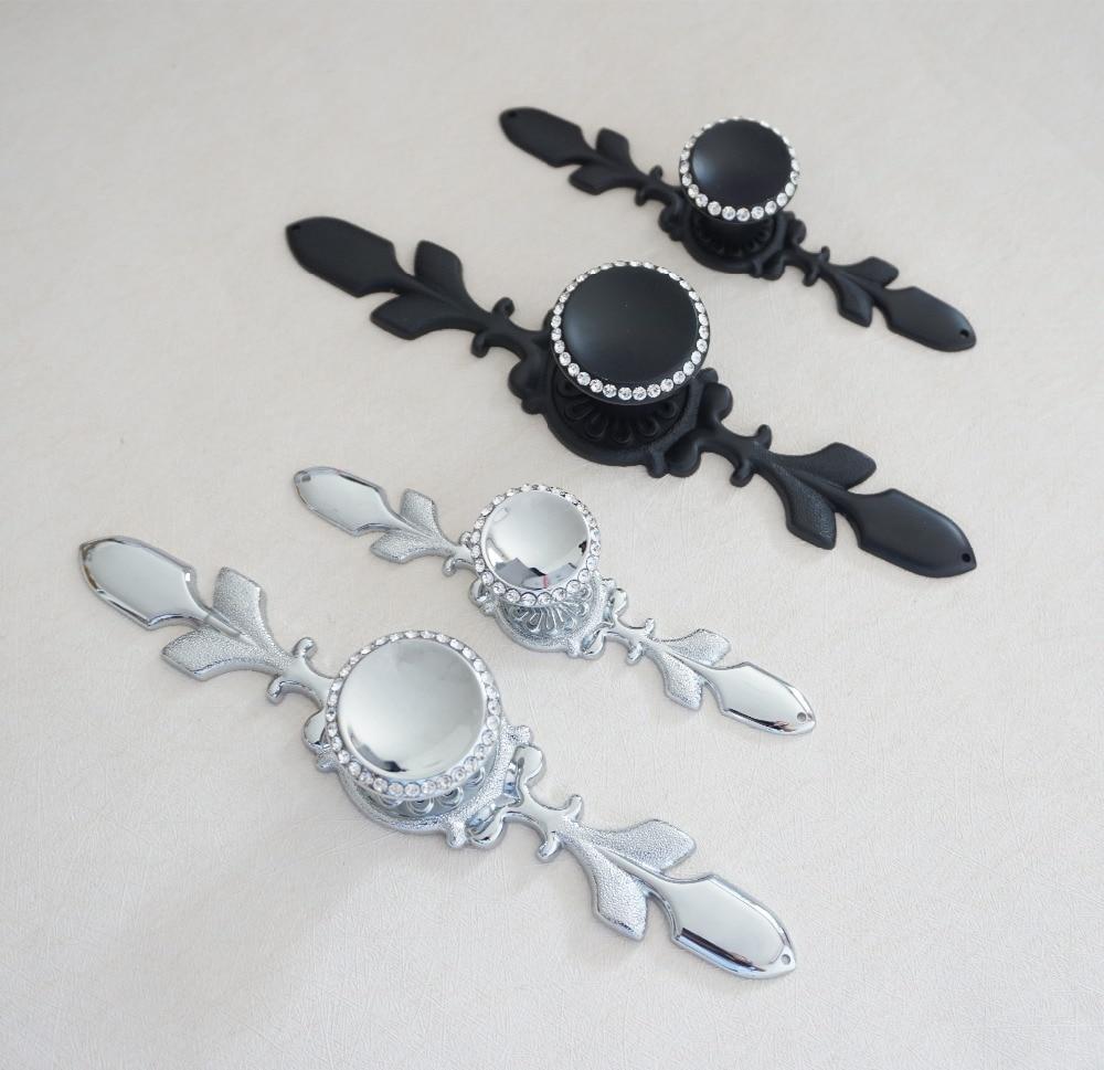 Glass Dresser Knob Crystal Drawer Knobs Handle Silver